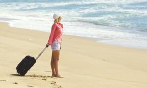 Девушка на пляже