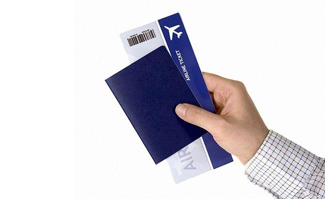 Синяя обложка паспорта