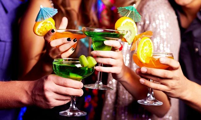 Цветные коктейли