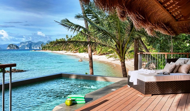 Уютное место на пляже