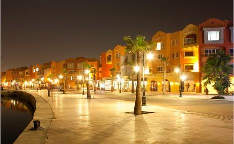 Хургада ночью