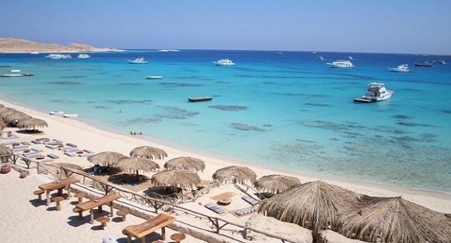 Пляж на Красном море